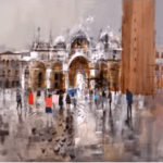 Mike Bernard discusses his Venice painting
