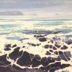 LR 45335 Cornwall rocks no13 oil and acrylic on canvas 76 x 102cm £5000