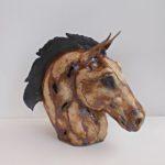 LR 33524 Hunter Horses Head h 29cm 210 side 1