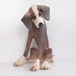 LR 44045 Sitting Up Patchy Dog 25 cm 195