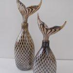 LR 46054 and 46055 Mermaid Bottle 36 and 28cm 95 and 65