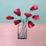 LR 46284 Papery Pink Poppies 30 x 30 48 x 48 550