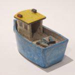 LR 46388 Fishing Boat Box with Fish Detail 10cm x 6cm 90