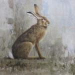 Lr46010 hare mixed media 52x56cm 1975